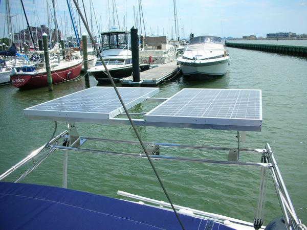 Solar Panel Sailboat Mount